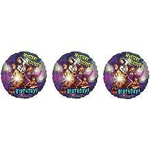 "3 Scooby Doo ""Mystery Solved! It Your Birthday"" Mylar Balloons - Shaggy, Velma, Fred, Daphne"