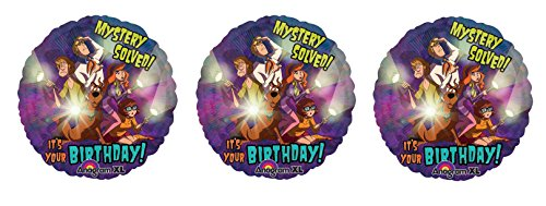 Scooby Doo 3 Mystery Solved! It Your Birthday Mylar Balloons - Shaggy, Velma, Fred, Daphne
