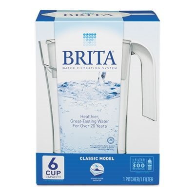 Brita - Classic Water Filter Pitcher 48Oz Capacity