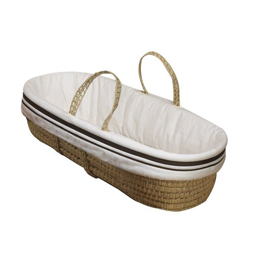 Baby Doll Bedding Hotel Style Moses Basket, Ecru by BabyDoll Bedding