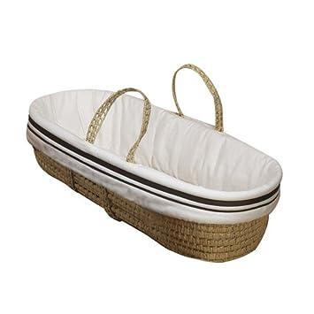 BabyDoll Hotel Style Moses Basket Set, Blue 5650mb