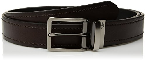Dockers Men's 1.3 in. Wide Stitched Reversible Belt, brown/black, 40