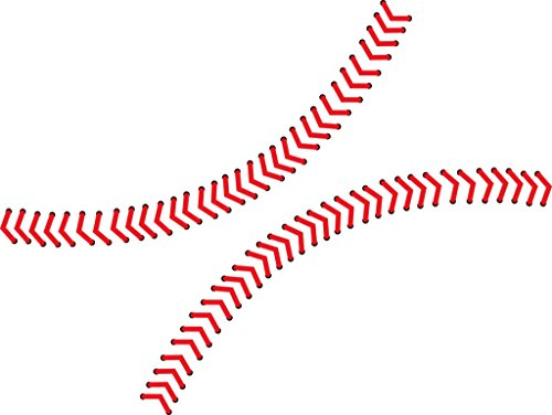 Chic Walls Removable Baseball Seams Stitching Wall Art Vinyl Decal Decor Sticker Mural X-Small