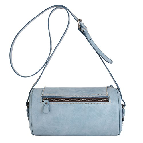 Purse Round Small Blue Leather for Womens Genda Bag 2Archer Crossbody gRIqqyAp
