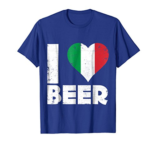 Mens I Heart Italian Beer Pride Love Italy Flag Italia T-Shirt Medium Royal Blue - Italy Heart