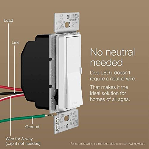 Lutron Diva LED+ Dimmer Switch (6 Pack)   for Dimmable LED, Halogen and  Incandescent Bulbs, Single-Pole or 3-Way   DVCL-153P-WH   White - -  Amazon.comAmazon.com