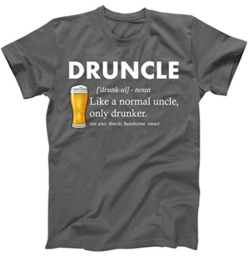 TeeShirtPalace Druncle Funny Uncle Definition T-Shirt Charcoal Large