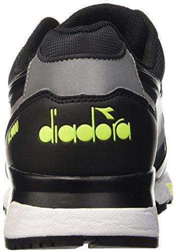 Diadora N9000 Bright Protection, Men's Flatform Pumps Black (Black/Oro Chiaro Fluo)