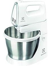 Electrolux Elvisp med skål Modell ESM3300, Vispa alla ingredienser med denna handmixer, Stativ, 1,5 liter, 5 hastigheter, 450W, Vit