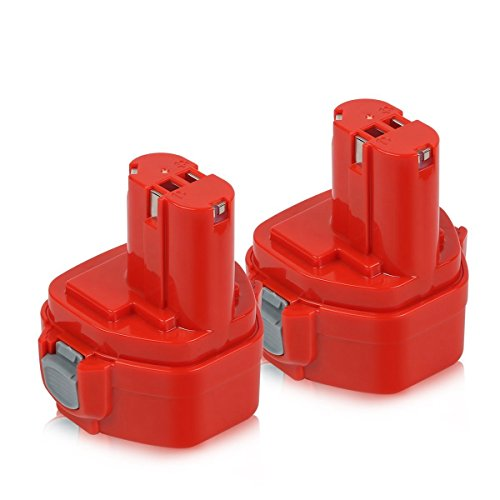 Enegitech 2Pack 12V 3.0Ah Ni-MH Battery for Makita 192598-2 1200 1220 1201 1222 1233 1234 1235 192681-5 Cordless Power Tools (12v Makita Battery)