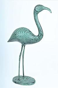 Flamingo Jardín Figura * 50cm * Figura de metal jardín pájaro Figura decorativa