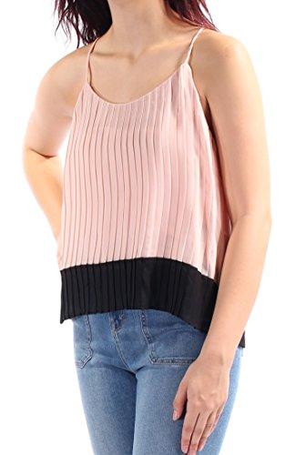 Colorblock Cami - Bar III Womens Chiffon Colorblock Cami Pink M