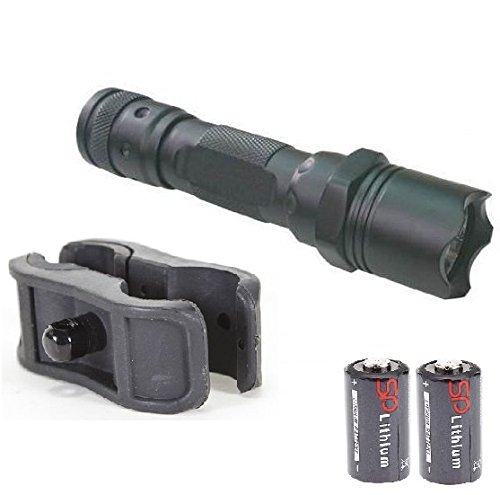 Ultimate Arms Gear 130+ Lumens L.E.D Flashlight LED Tactical - Light Kit For Mossberg 500/590/835/Maverick 88 12/20 Gauge Shotgun Light Kit Includes: Barrel/Mag Tube Light Clamp Mount, Push Button Tail Cap & Battery - Features Front Serrated Self Defense Bezel