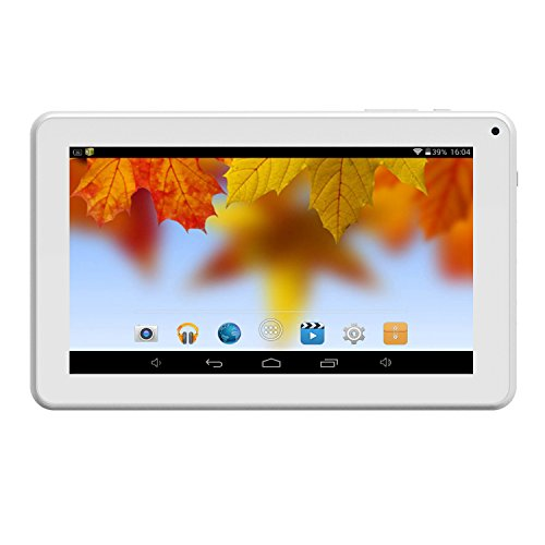 Android Tablet 9 inch WiFi Blutooth Pad with Dual Camera 1GB RAM 8GB ROM Expandable 64GB Storage Tablet PC,White by Hoozo