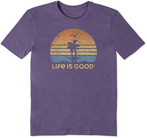 - Life is Good Mens Cool Graphic T-Shirts Collection,Hammock,Mountain Purple,X-Large