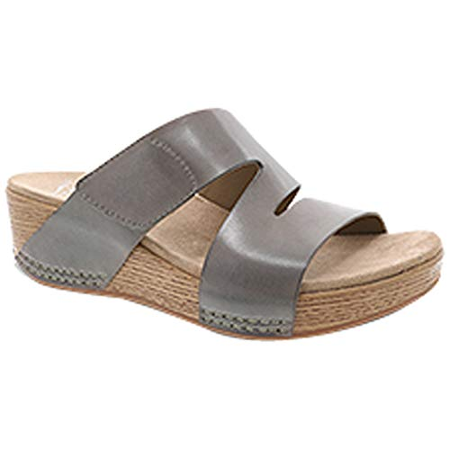 Dansko New Women's Lacee Slide Sandal Taupe Burnished Calf 40 ()