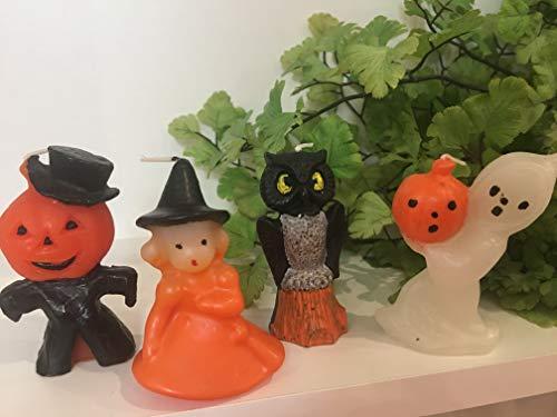 Halloween Party Retro Vintage Mini Wax Candle Figural