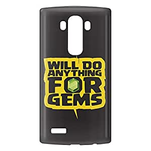 Loud Universe LG G4 Clash of Clans Will Do Anything for Gems Print 3D Wrap Around Case - Black