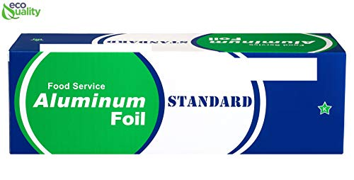 EcoQuality [1 Pack] Food Service Heavy Duty Aluminum Foil Roll (12