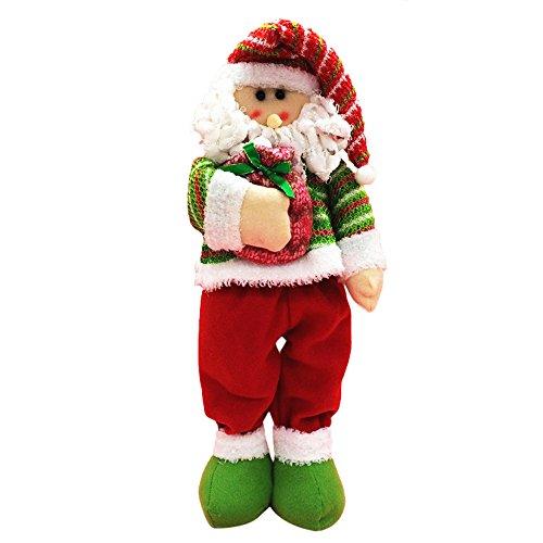 Alonea Chrismas Santa Claus Figure Vintage Holiday Home Decor Plush Santa Doll (Vintage Santa Claus Doll)