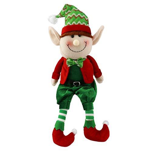 WEWILL 16'' Stuffed Elf Plush Toys Christmas Decoration Adorable Elves Figure Xmas Ornaments(Boy) -