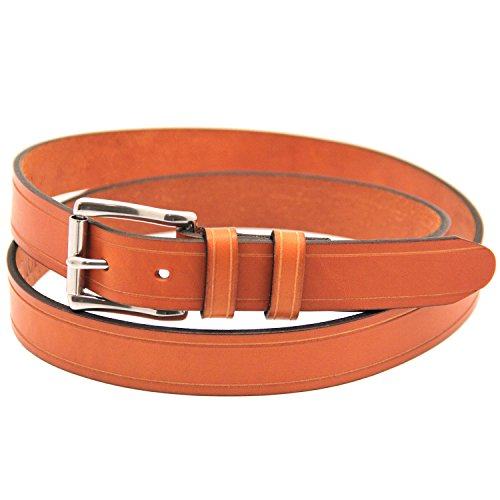 Orion Leather 1 1/4 Bridle London Tan Leather Belt With Saddle Groove (Bridle Tan Leather)