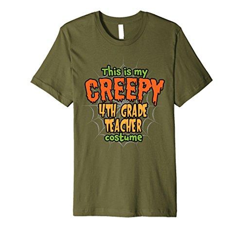 Costume Halloween 4th Grade Ideas (Mens Creepy 4th Grade Teacher Costume Premium Halloween T-Shirt 2XL)
