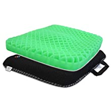 HANCHUAN Gel Seat Cushion Thick Seat Cushion for Office Chair Or The Car and Home - Can Help in Relieving Back Pain & Sciatica Pain Pressure Sores Buttocks Wheelchairs Gel Cushion Seat
