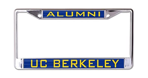 WinCraft NCAA University California Berkeley Cal Bears 6 x 12 Inlaid Acrylic//Metal License Plate Frame