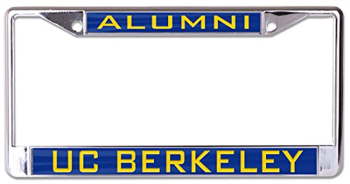 WinCraft UC Berkeley Alumni Premium License Plate Frame, Metal with Inlaid Acrylic, 2 Mount Holes