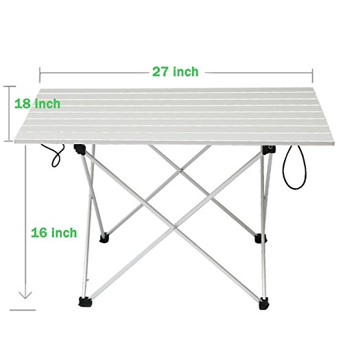 WSTECHCO 알루미늄 접이식 캠핑 테이블 초경량 대형 크기 접이..