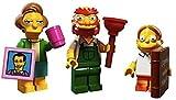 LEGO Edna Krabappel, Groundskeeper Willie, Martin Prince Simpsons Collectible Minifigures Series 2 Custom Bundle 71009