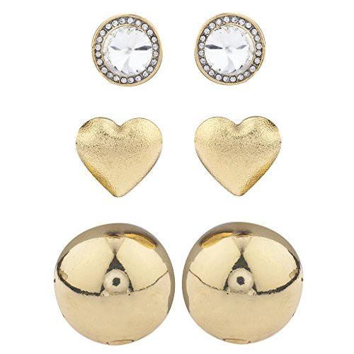 Lux Accessories GoldTone Crystal Rhinest - Dome Set Earrings Shopping Results
