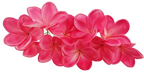 Bunch of 10 Rose Red Artificial Plumeria Frangipani Flower For DIY Headdress Wedding Bouquets Home Party Decoration