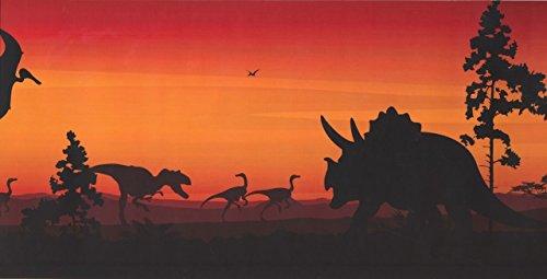 Prehistory Dawn Dinosaurs Pterodactyls KP1232MB Wallpaper Border by York Wallpaper
