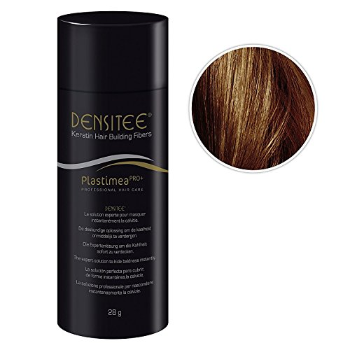 Plastimea Hair Building Fibers – 0.99 Oz/28 Gr – Microfibers Of Natural Keratine – Medium Brown