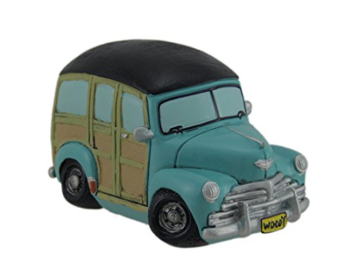 """Used, Green Woody Station Wagon Car Money Coin Bank - 6.75"""" for sale  Delivered anywhere in USA"""