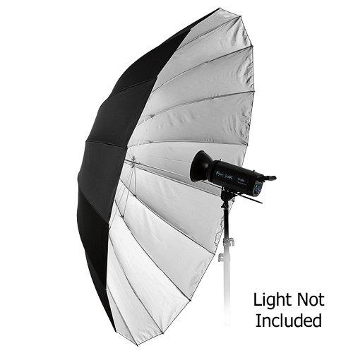 Fotodiox Pro 16-Rib, 72'' Black and Silver Reflective Parabolic Umbrella with Neutral White Diffusion Cover by Fotodiox (Image #2)
