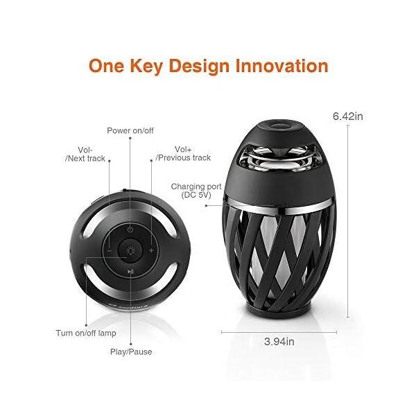 Sans Fil Zanflare Lampe De Chevet Avec Enceinte Bluetooth