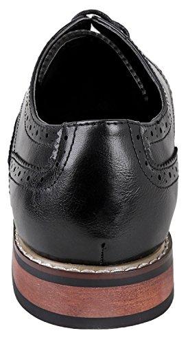 Scarpe Da Uomo Urban Fox Mens Ethan Oxford Per Uomo | Formale | Allacciatura | Design Classico | Estremità Alare | Scarpe Da Uomo Brogue Da Uomo Nere