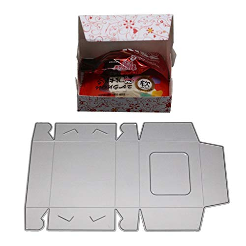 Gift Box Templates - Mikilon Metal Die Cutting Dies Cut Handmade Stencils Template Embossing for Card Scrapbooking Craft Easter Velantine Round Lace Gift Box (E)