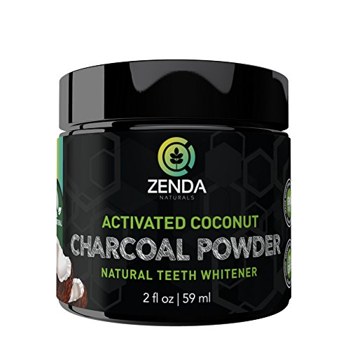 Activated Charcoal Teeth Whitening Powder - Made with Organic Coconut Active Charcoal and Bentonite Clay Tooth Whitener Formula. Use Like Toothpaste & Skip the Strips, Kits and Gel! (Toothbrush Free Shipping)