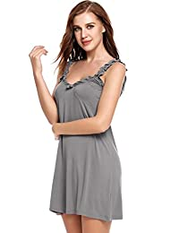 Avidlove Womens Chemise Nightgown Full Slip Lounge Dress Sexy Lingerie Sleepwear