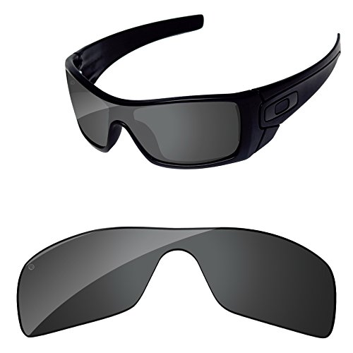 PapaViva Replacement Lenses for Oakley Batwolf Pro+ Black Grey - Batwolf Lenses Oakley Polarized