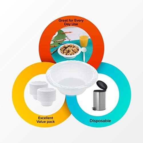 Amazon.com: Blanco 12 oz. Cuencos de plástico: 100 unidades ...