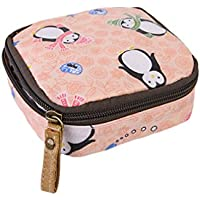 Meolin Womens Portable Coin Purse Pouch Zipper Enclosure and Durable Carrying Case,Little Penguin,4.74.71.8in