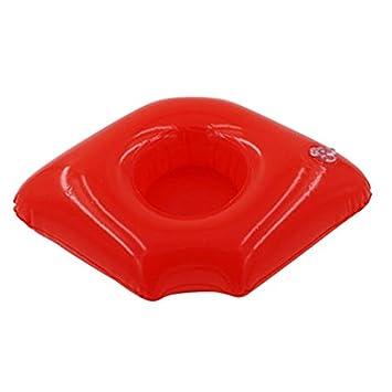 JYCRA - Soporte hinchable para bebidas, PVC, labios rojos ...