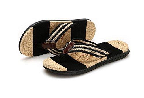 Phoenixes Flip Flops, Damen Pantoffeln Pantoletten Herren Hausschuhe Sommer Schuhe Anti-Rutsch Zehentrenner Herren Schwarz