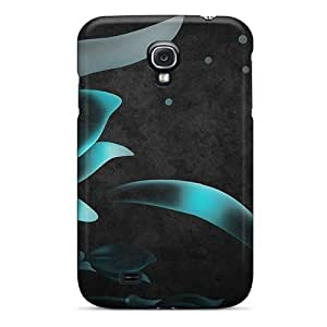 Protective Hard Cell-phone Case For Galaxy S4 (uVT21560jNrw) Unique Design Stylish Blue Flowers Skin