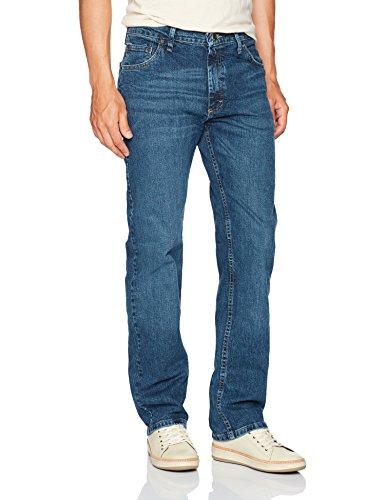 Wrangler Authentics Men's Classic Straight Leg Jean, Ranch Blue Flex, 35 X 32 (Jean Fit Authentic)